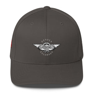 Dark Gray Veedverks Racing Carl Long #66 Structured Twill Cap, Front