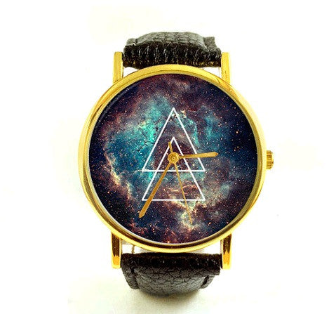 Unisex Geometric Space Watch
