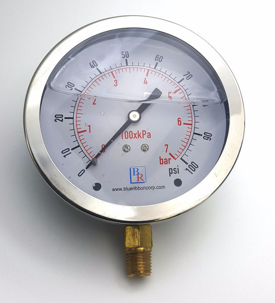 Bottom Connected Liquid Filled Gauge Model 201L , Gauge, NWIM