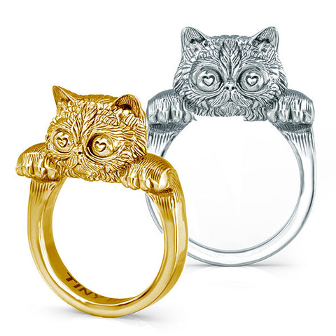 Snuggle Cat Rings