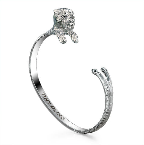 Affenpinscher Breed Jewelry Cuddle Cuff Bracelet