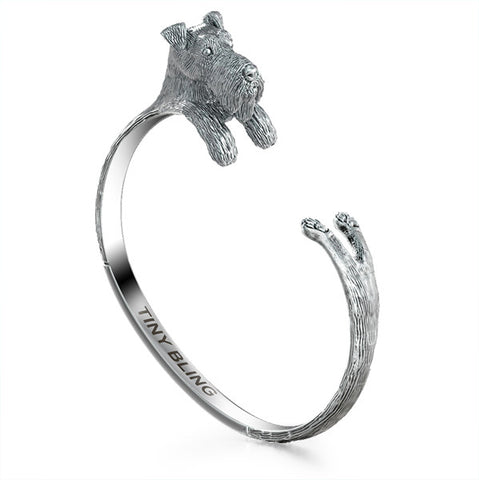 Airedale Terrier Breed Jewelry Cuddle Cuff Bracelet
