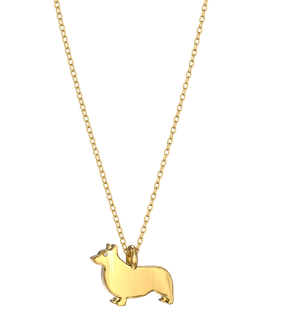 Corgi Mini Pups Diamond Necklace YG