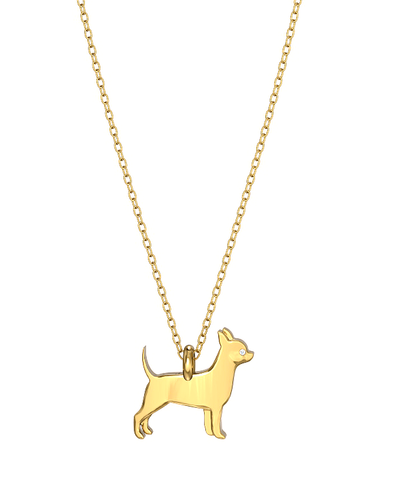 Chihuahua Mini Pups Diamond Necklace yg