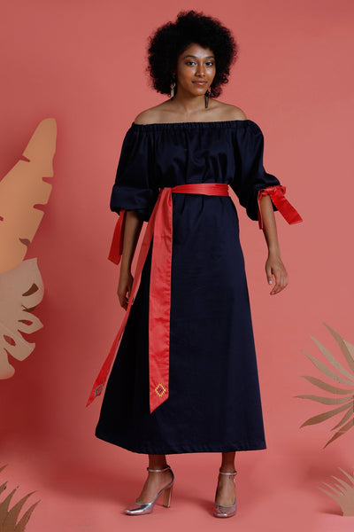 Dune'rose Luna off shoulder maxidress with embroidery