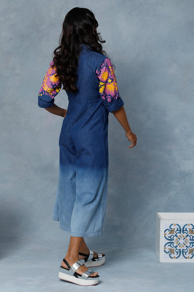 Ayleen Chambray Bleached Jumpsuit