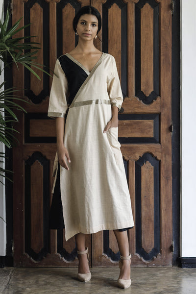 Laelia Sand Dust  Wrap Dress