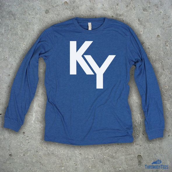 KY Text - Blue Longsleeve Tee