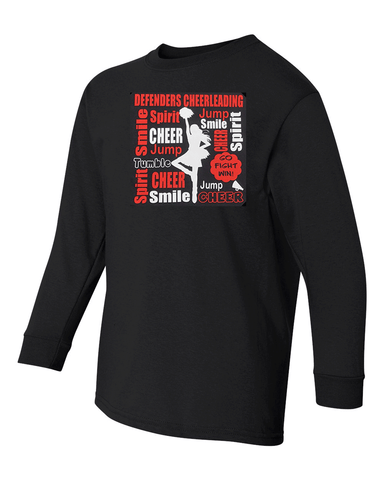 Defenders Cheer Collage Spirit Wear  Gildan Heavy Cotton-Long Sleeve YOUTH SIZES