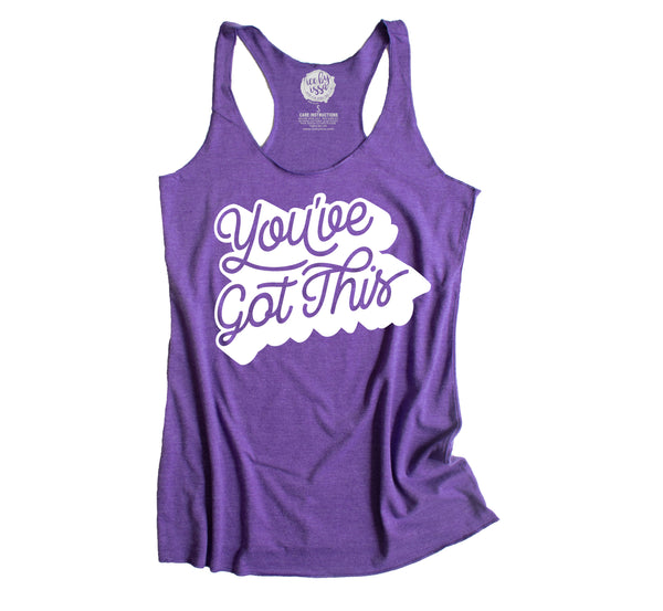 You've Got This Purple Racerback Tank