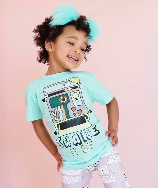 *SHAKE* IT OFF Retro Polaroid Kids Tee