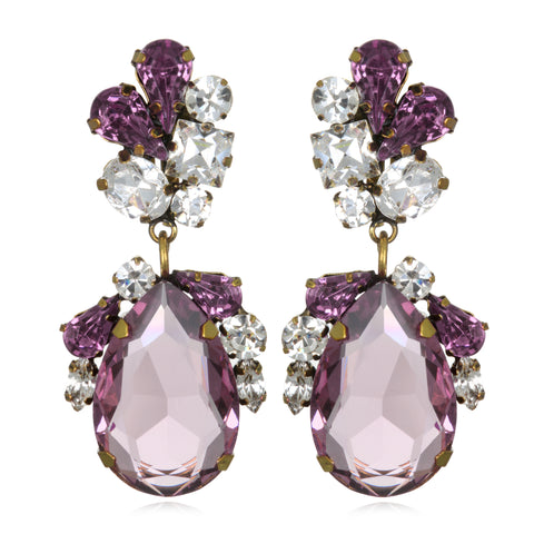 Amethyst Juicy Crystal Drop Earrings