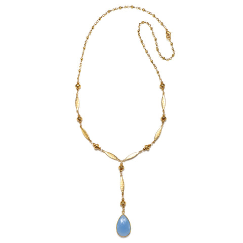 Light Blue Riviera Statement Pendant Necklace