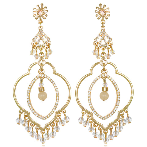 Gold Samba Chandelier Earrings