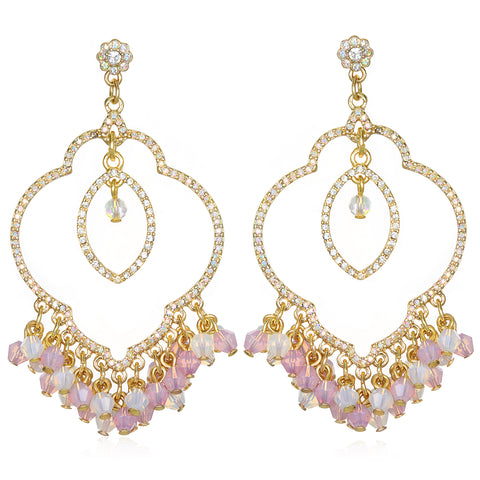 Light Pink Samba Chandelier Earrings