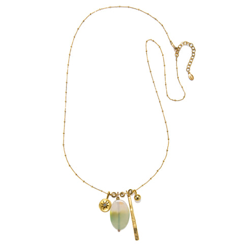 Pale Green Long Harmony Necklace