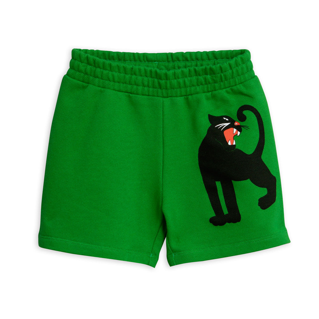 Green Panther Sweatshorts by Mini Rodini