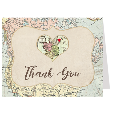 Adventure Awaits Bridal Shower Thank You Card