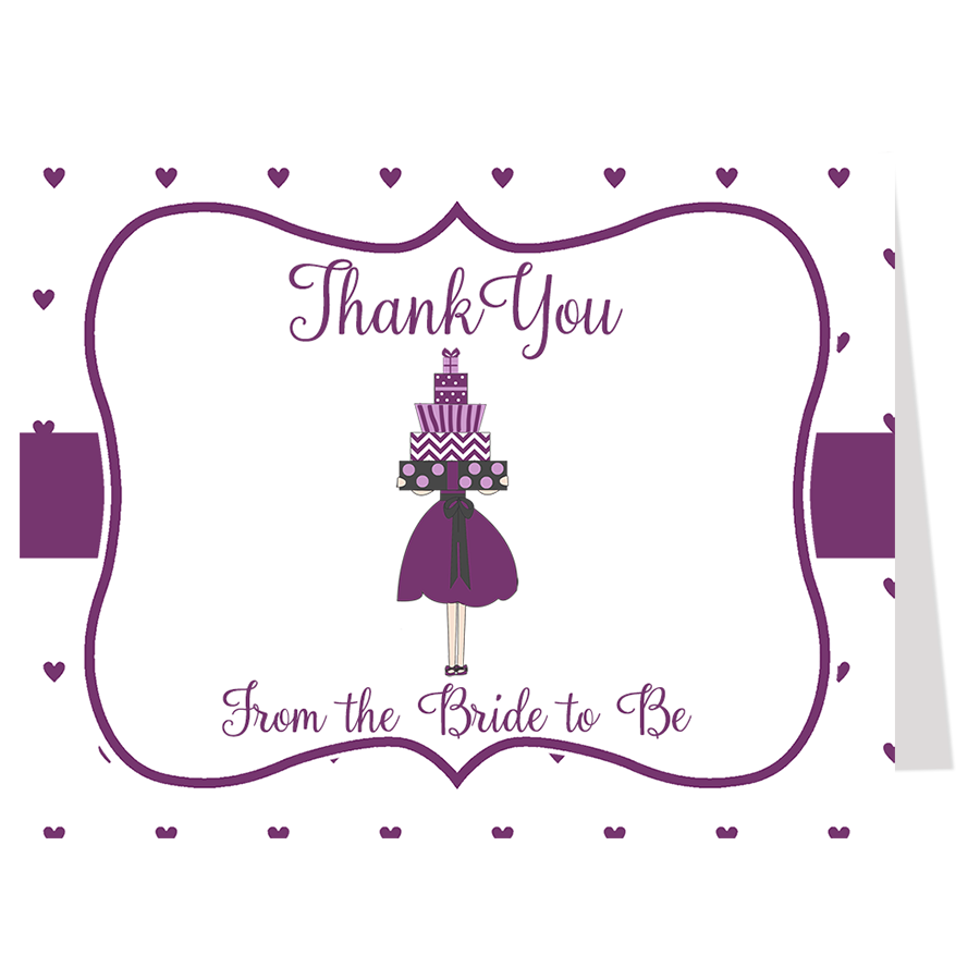 Lots of Love Purple Thank You Card