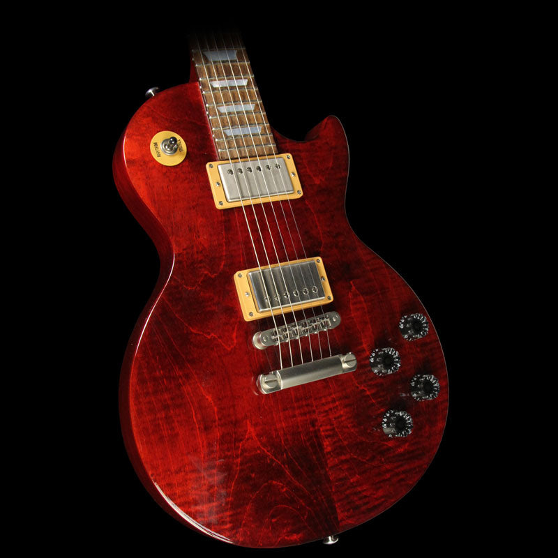 Used 2015 Gibson Les Paul Studio Electric Guitar Wine Red 150007528