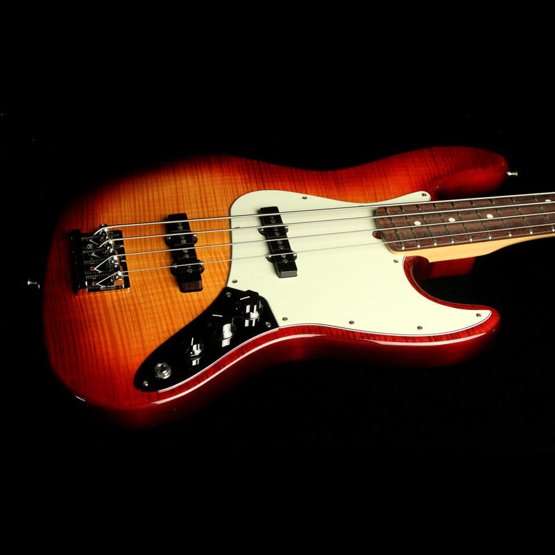 Fender American Pro Jazz Bass Limited Edition FMT Electric Bass Aged Cherry Burst 0175108731