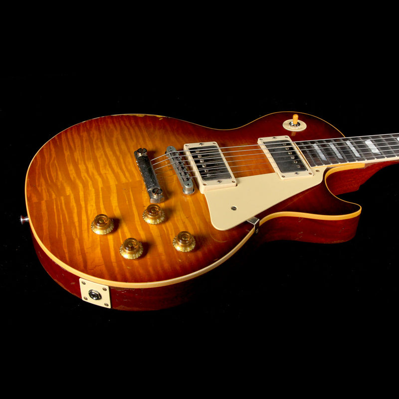 Gibson Custom Shop 1959 Les Paul Standard Brazilian Rosewood Fretboard Electric Guitar Slow Ice Tea Fade 97034