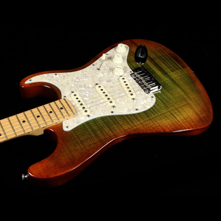 Fender American Design Stratocaster Green/Brown Burst 2012 US12183197