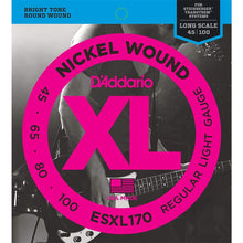 D'Addario Nickel Wound Double-Ball End Bass Strings (Reg 45-100)