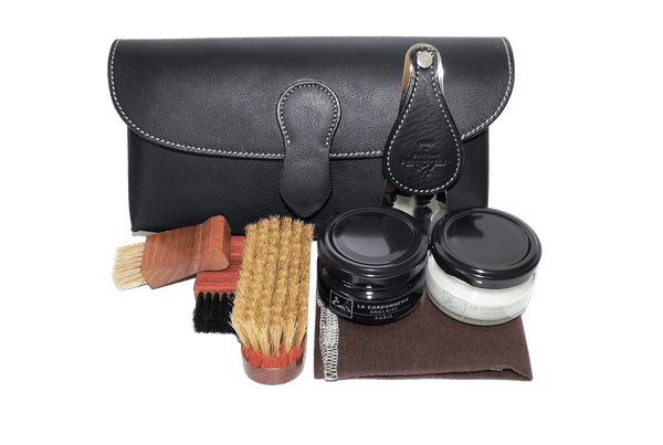 Shoe Care Kit - Travel Shoe Care Set - Cartridge by La Cordonnerie Anglaise France - ValentinoGaremi