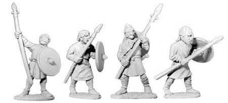 Saxon Unarmoured Spearmen I (4)