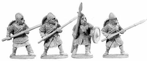 Saxon Huscarles with Spears I (4)