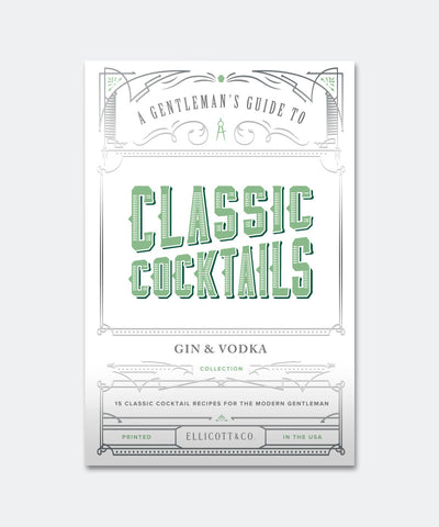 Classic Cocktails Gin & Vodka Cards