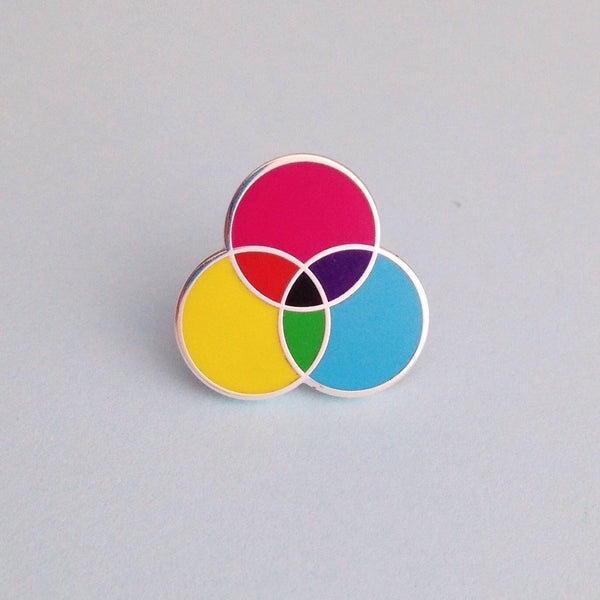 CMYK Pin - Hand Over Your Fairy Cakes - Braw Wee Emporium