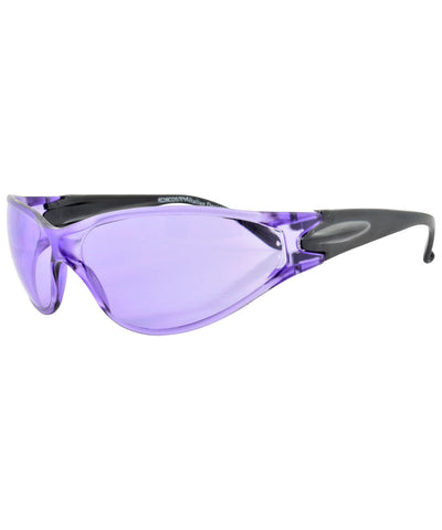 catched purple sunglasses