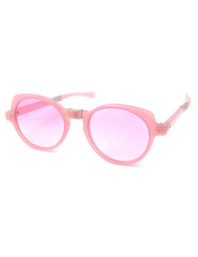 flounce light pink sunglasses