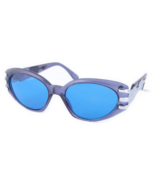 pout crystal blue sunglasses