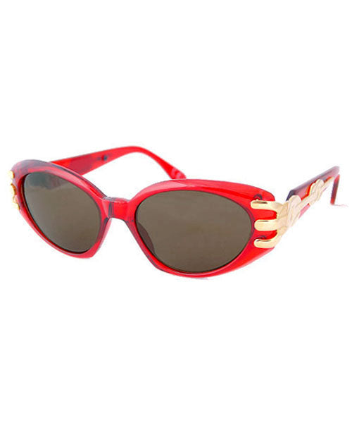 pout crystal red sunglasses