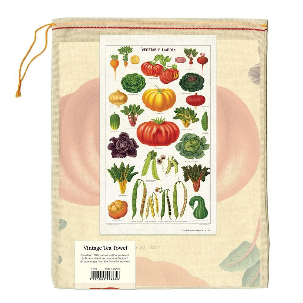 Vegetable Vintage Style Dish Towel
