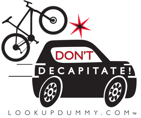 DON'T DECAPITATE Removable and Reusable Vinyl Window Cling 4 X 4 Inches FREE SHIPPING! - Look Up Dummy!™