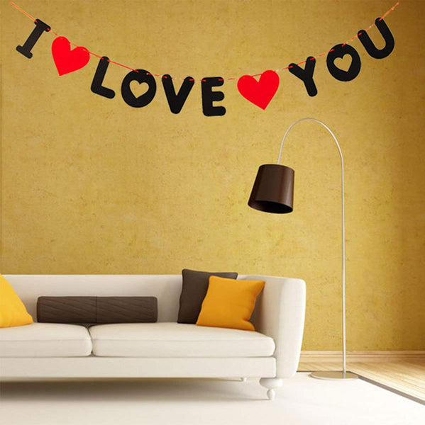 """I Love You"" 3 Meter Alphabetic Banner"
