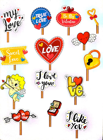 Valentine Photo Booth Placards 14pcs.
