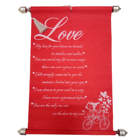 Love Message Scroll