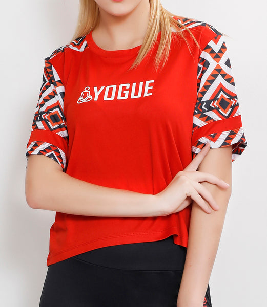 Red Zigzag Crop Top