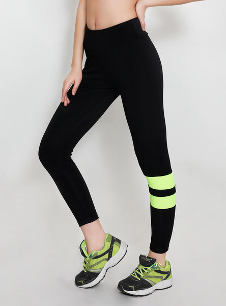 Black Tights with Lemon Stripes