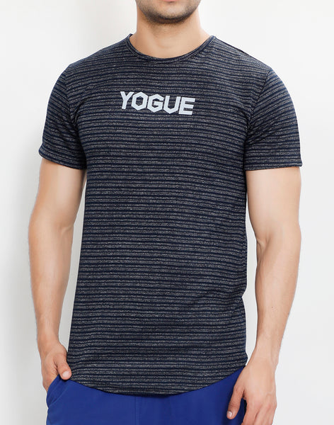 Navy Grey Stripes Roundneck T-Shirt