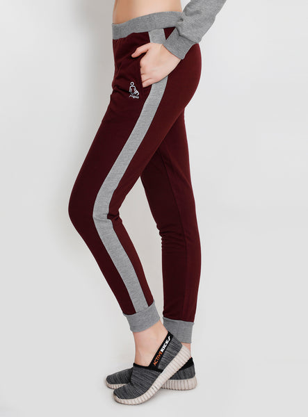 Cherry and Grey Joggers