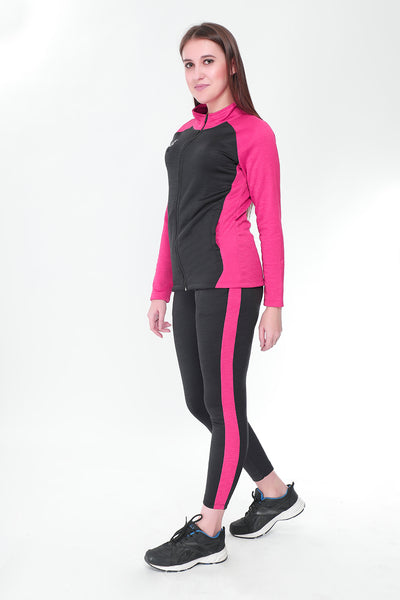 Pink and Black Tracksuit