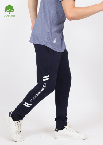 Navy Cotton Joggers