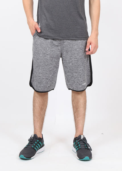 Grey Melange Long Shorts