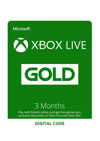 XBOX Live Gold 3 Month Key